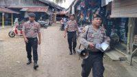 Polisi Berkeliling Beri Imbauan Kepada Warga