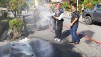 Penyemprotan Disinfektan di Kawasan Vital