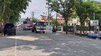 Polisi di Sibolga Lakukan Penyemprotan Disinfektan