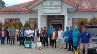 PMI Humbahas Gelar Penyemprotan Disinfektan
