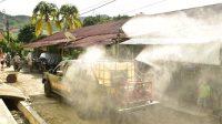 TNI Gencarkan Penyemprotan Disinfektan Sibolga