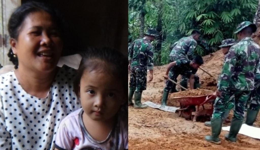 Program TNI Manunggal Membangun Desa di Gunungsitoli.