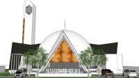 Desain Masjid Al-Huda di Kelurahan Hutanabolon, Kecamatan Tukka, Kabupaten Tapanuli Tengah