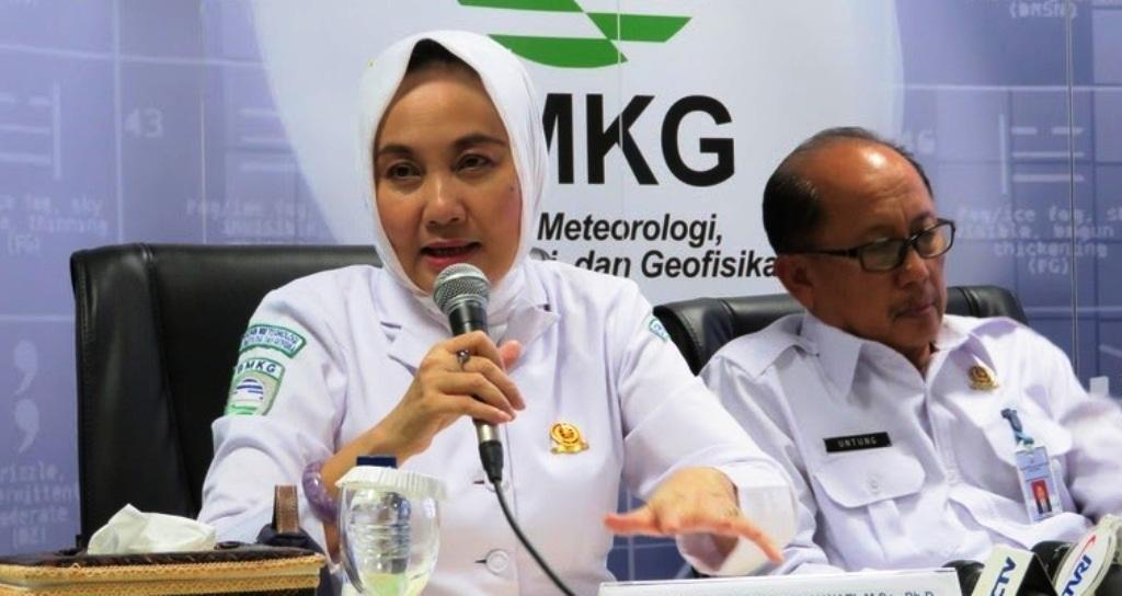 Kepala Badan Meteorologi, Klimatologi dan Geofisika (BMKG) Dwikorita Karnawati.