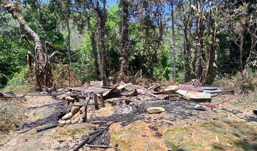 Rumah Buliher Hutagalung Hangus Terbakar
