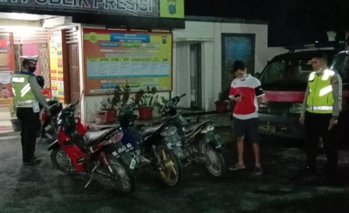 Sepeda Motor Berknalpot Blong Diamankan Polres Taput