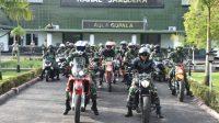 Danrem 023/KS, Kolonel Inf Febriel Buyung Sikumbang bersama para Dandim jajaran dan para Perwira Korem 023/KS melaksanakan Touring