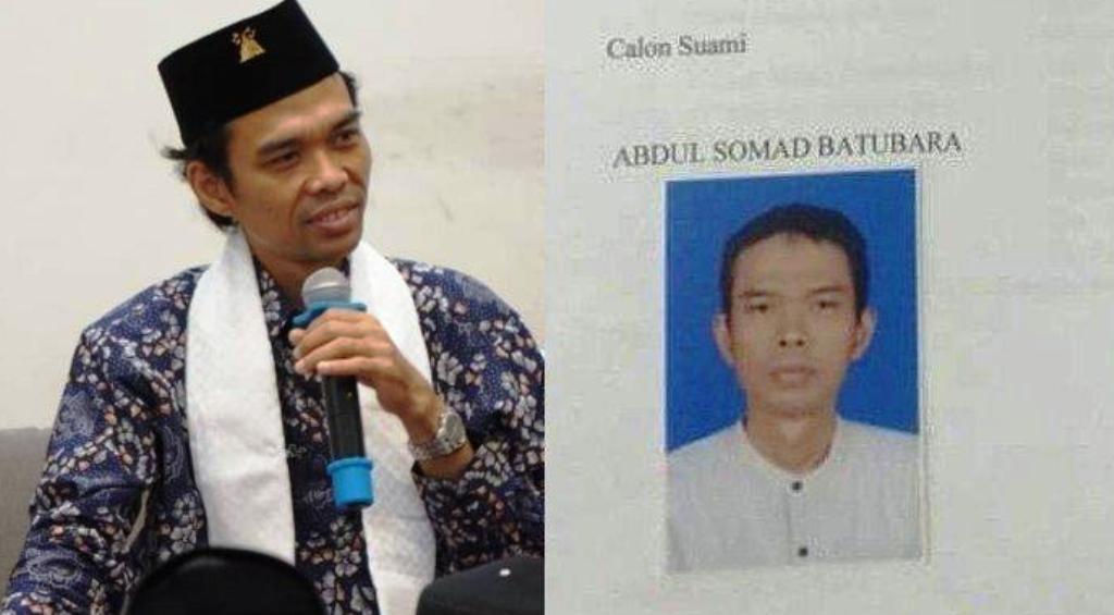 Selembar kertas formulir persetujuan calon pengantin Abdul Somad Batubara yang beredar.