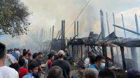 Kebakaran rumah di Jl Perintis Kemerdekaan, Lingkungan I, Kelurahan Pasar Belakang, Kecamatan Sibolga Kota, Kota Sibolga, Sumatra Utara (Sumut), Senin (3/5/2021).