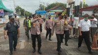 Perwira Pengamat Wilayah (Pamatwil) Operasi Ketupat Toba 2021 Polda Sumut mengunjungi wilayah hukum Polres Sibolga, Selasa (11/5/2021).