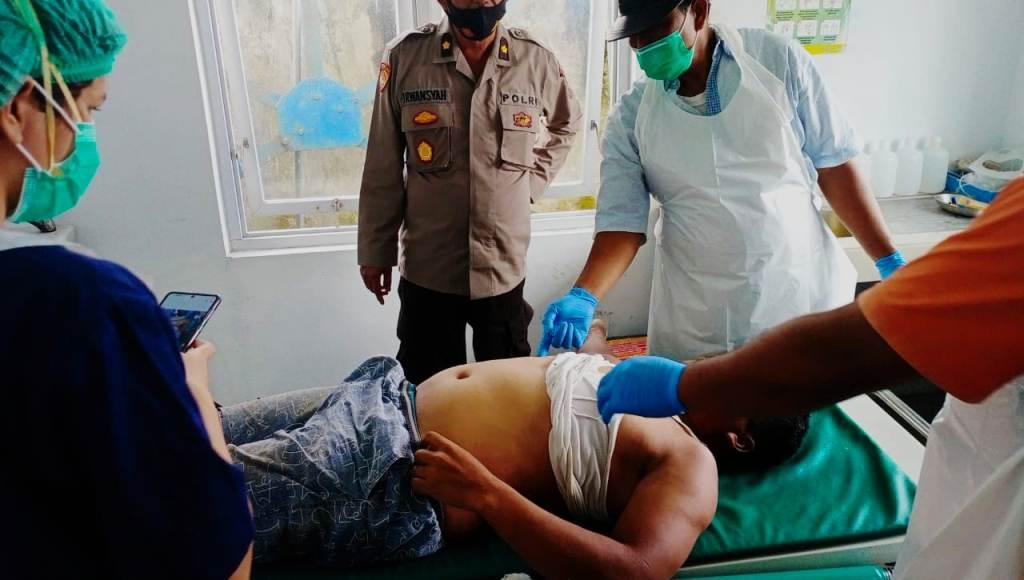 Korban saat Dievakuasi ke Rumah Sakit. (Foto: dok_istimewa)