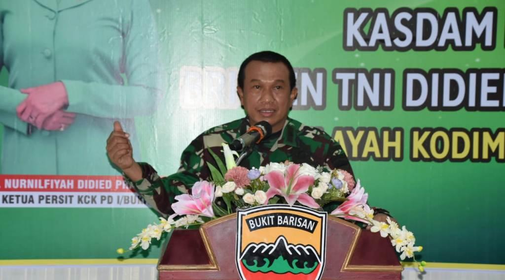 Kepala Staf Komando Daerah Militer (Kasdam) I/BB, Brigjen TNI Didied Pramudito