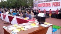 Konferensi Pers di Polda Sumut Terkait Kasus Jual Vaksin Corona Secara Ilegal (detikcom)