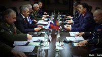 Pertemuan pejabat militer Rusia dengan peserta Konferensi Moskow. (VIVA Militer)