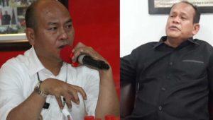 Bupati Taput Nikson Nababan dan Anggota DPRD Sumut Viktor Silaen. (Foto: dok_istimewa)