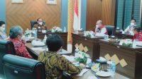 Foto: Pertemuan Bupati Tapanuli Utara, Nikson Nababan dengan Dewan Pertimbangan Presiden, Membahas Perihal Transformasi Institut Agama Kristen Negeri (IAKN) menjadi Universitas Negeri Tapanuli Utara (Untara), Rabu (9/6/2021).