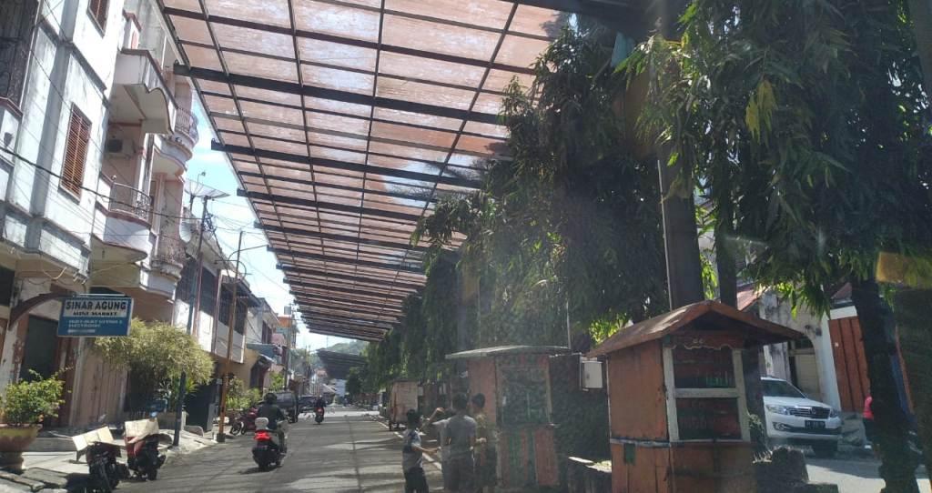 Foto: Kondisi Kaca Kanopi Sibolga Square. (snt)