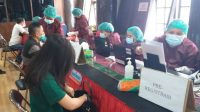 Serbuan vaksinasi massal nasional TNI-POLRI digelar. Polres Taput sendiri melakukan vaksinasi terhadap 2551 warga.