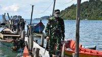 Danrem 023/KS, Kolonel Inf Febriel Buyung Sikumbang, tinjau pelaksanaan vaksinasi massal COVID-19 di pulau terpencil (Pulau Mursala) yang merupakan wilayah Kodim 0211/TT, Rabu (30/6/2021).