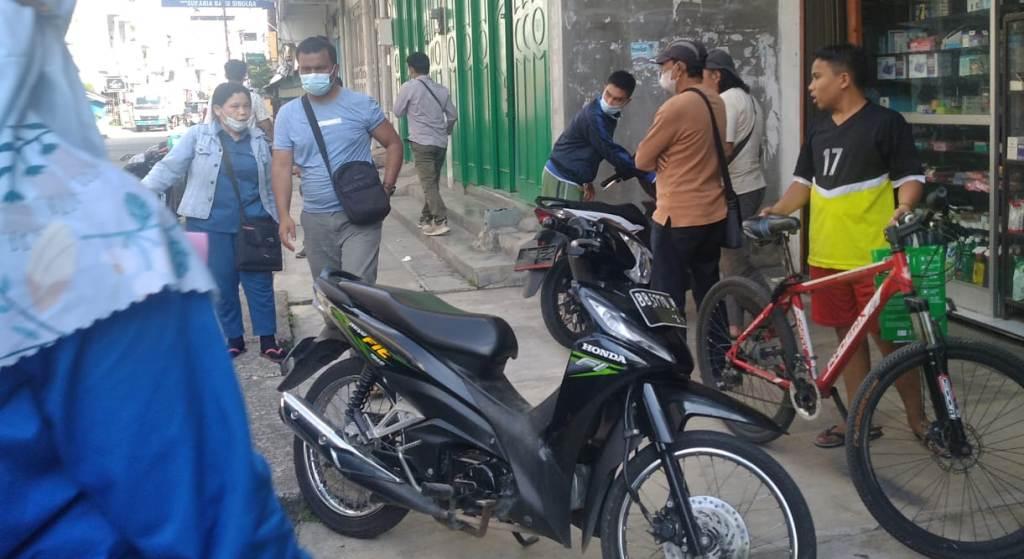 Lokasi kejadian pencurian, di Jalan Marganti Sitompul Sibolga.