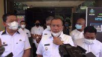 Wali Kota Sibolga Jamaluddin Pohan saat Memberikan Keterangan kepada Wartawan.