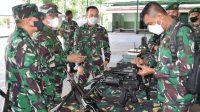 Pemeriksaan Senjata di Markas Batalyon Infanteri Yonif 123/Rajawali. (dodk_istimewa)