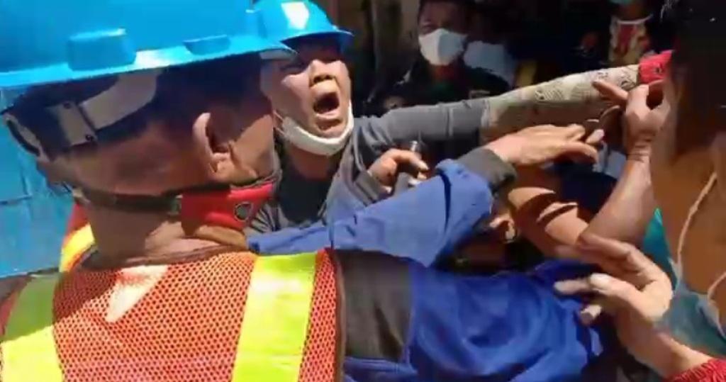 Foto: Insiden di Pasar Sibolga Nauli. (istimewa)