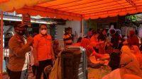 Kapolres AKBP Taryono Raharja di Lokasi Membubarkan Penerima Bansos di Kantor Pos Sibolga. (Istimewa)