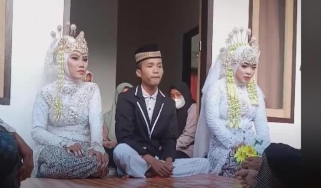 Seorang pria menikahi dua wanita kembali terjadi di NTB. Pernikahan itu disebut terjadi di Kecamatan Pujut, Kabupaten Lombok Tengah. (FB Doyok Potret)