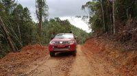 Mobil Sudah Bisa Menuju Dusun Pungga Kecamatan Parmonangan Setelah Dikunjungi Bupati Taput Nikson Nababan. (Istimewa)
