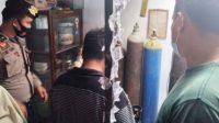 Polisi ungkap pengoplos oksigen di Padangsidimpuan. ANTARA/HO-Polres Padangsidimpuan.