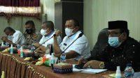 Wali Kota Sibolga Jamaluddin Pohan Saat Memimpin Rapat Koordinasi. (Foto: Kominfo)