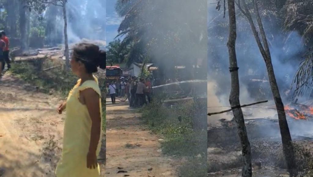 Rumah Terbakar di Kecamatan Pinangsori.