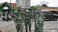 Danrem 023/Kawal Samudera, Kolonel Inf Febriel B Sikumbang langsung mengecek Kodim yang ada di wilayah jajarannya usai mengikuti rapat secara virtual dengan Panglima TNI dan Kapolri. (dok/istimewa)