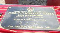 Nikson Nababan Resmikan Jembatan Soekarna-Hatta di Tapanuli Utara