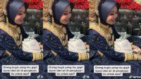 Viral Pengantin Wanita Bugis Gigit Kunci (TikTok/hananmoms)