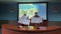 Foto: Bupati Taput Nikson Nababan Tandatangani Nota Kesepakatan Sinergi antara Pemerintah Kabupaten Tapanuli Utara dan Politeknik Transportasi Darat Indonesia-STTD. (Istimewa)