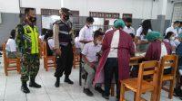 Suasana Pelajar Taput yang Mengikuti Vaksinasi.